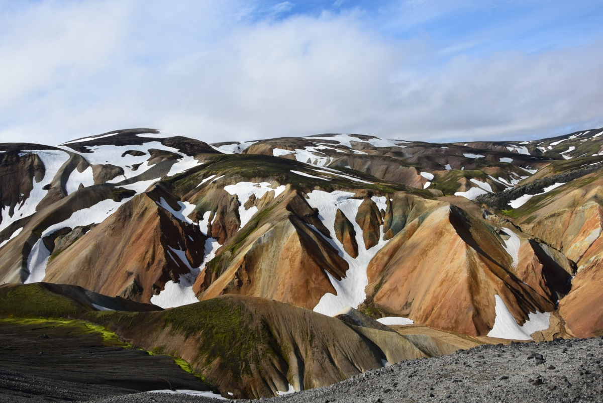 A picture taken by the Half Hermit in Iceland, in the mountains of Landmannalaugar.