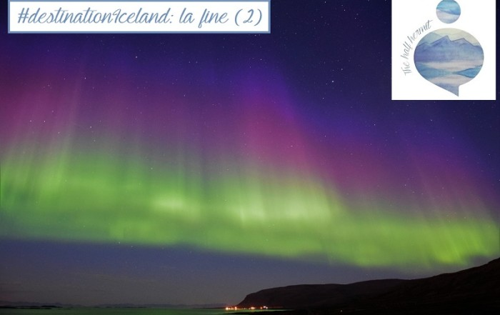 Foto dell'aurora boreale scattata da The Half Hermit durante #destinationIceland: la fine del viaggio potrebbe essere altrettanto inaspettata.
