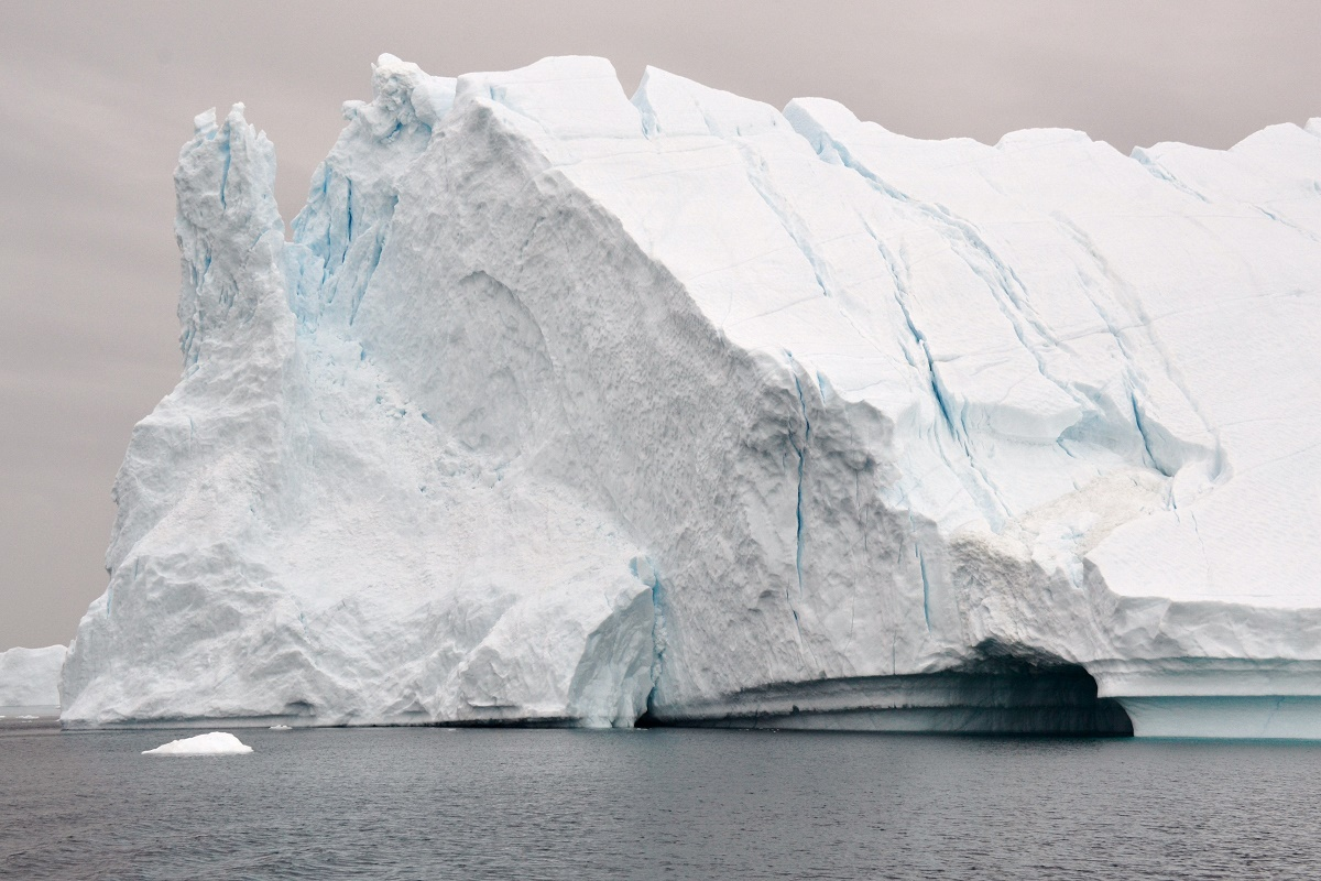 An iceberg in the Disco Bay in Greenland