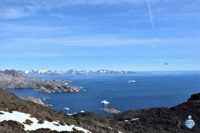 """The ocean view from the """"House Montain"""", behind Tasiilaq, on the east coast of Greenland."""