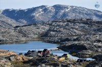 Picture of the inuit village of Tiniteqilaq, on the east coast of Greenland